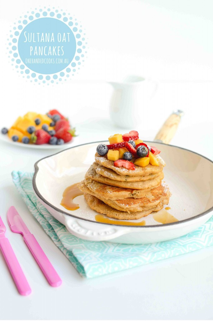 Sultana Oat Pancakes One Handed Cooks