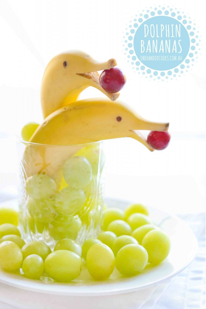 No-cook Dolphin Bananas For Kids - One Handed Cooks
